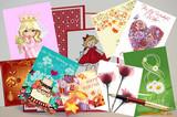 Этикет поздравительной открытки